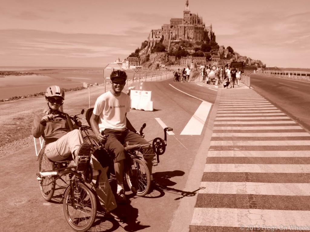 vélo couché au Mont Saint Michel